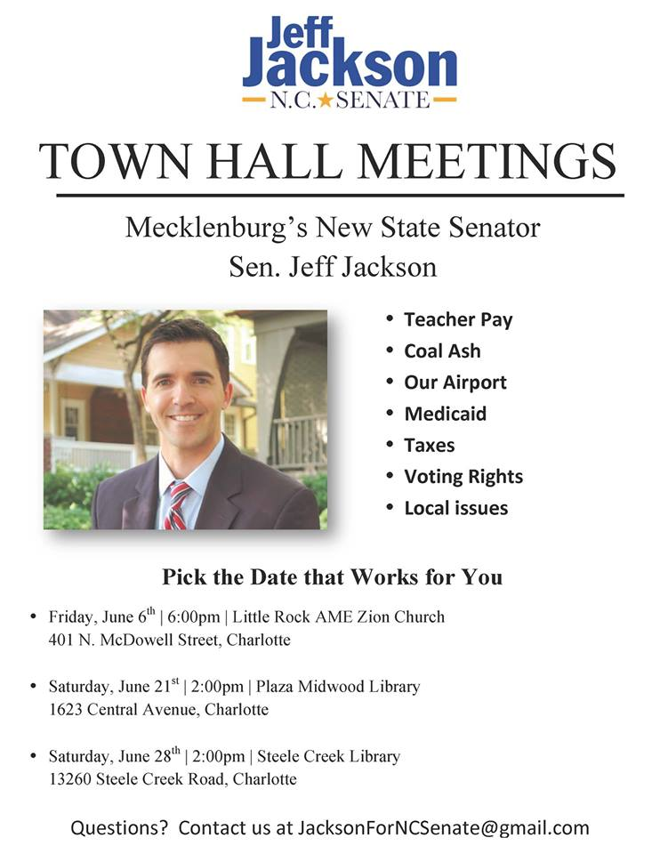 Jeff Jackson Town Hall Meetings
