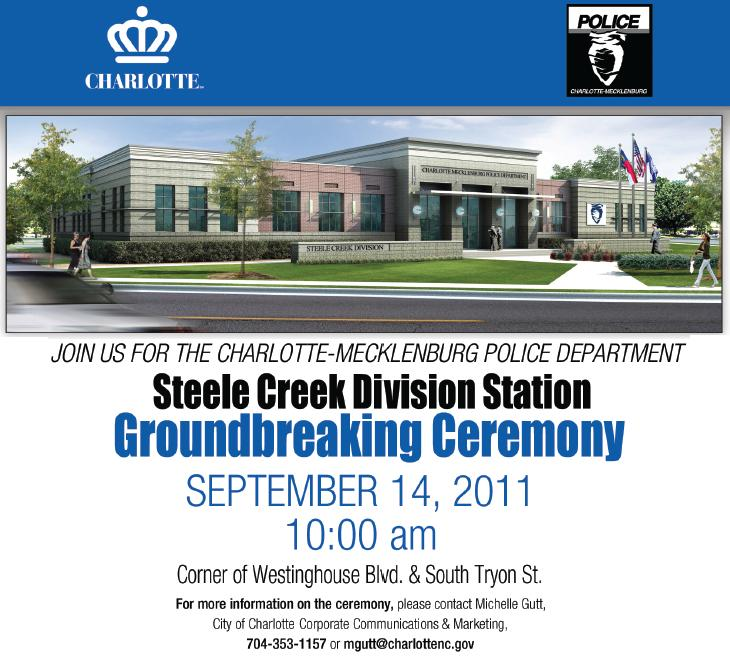 Steele Creek Police Station Groundbreaking