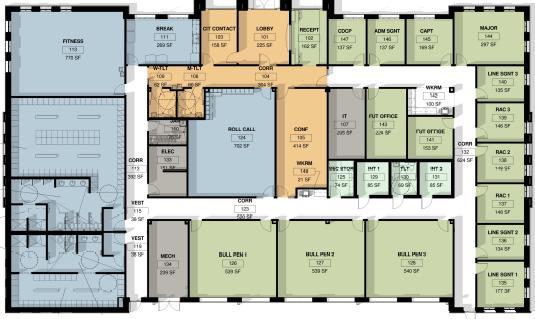 Steele Creek Police Station Floor Plan