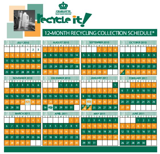 Recycling Pickup Calendar