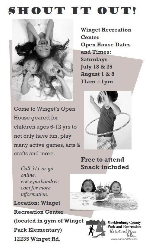 Winget Park Recreation Center Open House