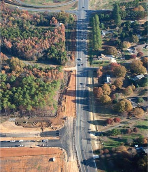 New Steele Creek Road at New Dixie River Road