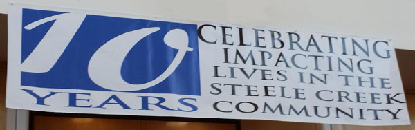 Steele Creek Library Anniversary Banner