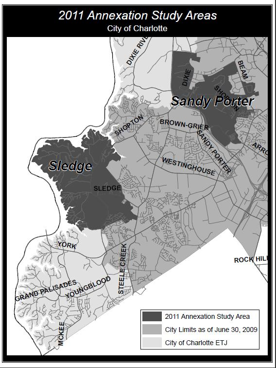 2011 Annexation Study Areas