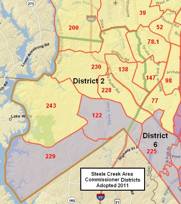 Mecklenburg County Commissioner Districts