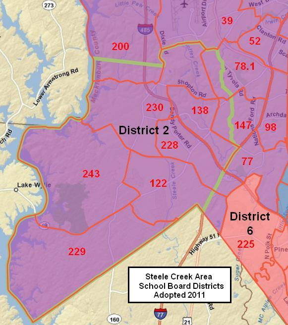 Charlotte-Mecklenburg Board of Education Districts