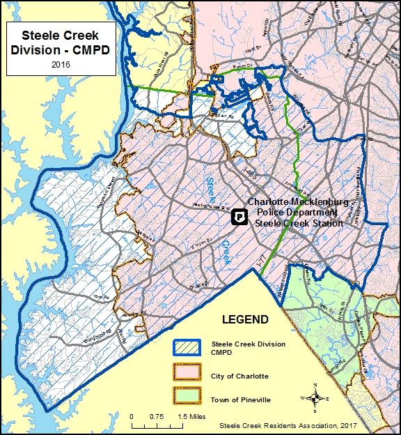 Steele Creek Map